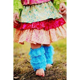 Dainty Lace Ruffle Child Leg Warmers